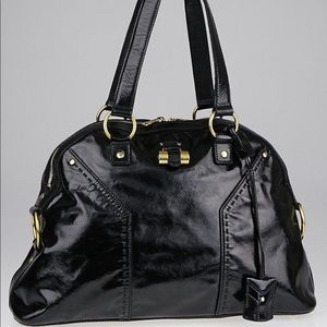 YSL Large Muse bag in patent leather